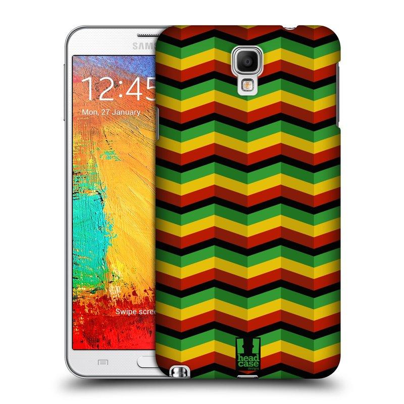 Plastové pouzdro na mobil Samsung Galaxy Note 3 Neo HEAD CASE RASTA CHEVRON (Kryt či obal na mobilní telefon Samsung Galaxy Note 3 Neo SM-N7505)