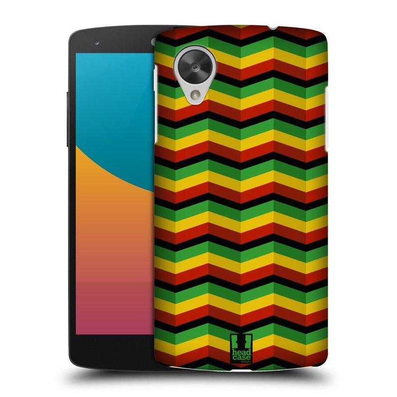 Plastové pouzdro na mobil LG Nexus 5 HEAD CASE RASTA CHEVRON (Kryt či obal na mobilní telefon LG Google Nexus 5 D821)
