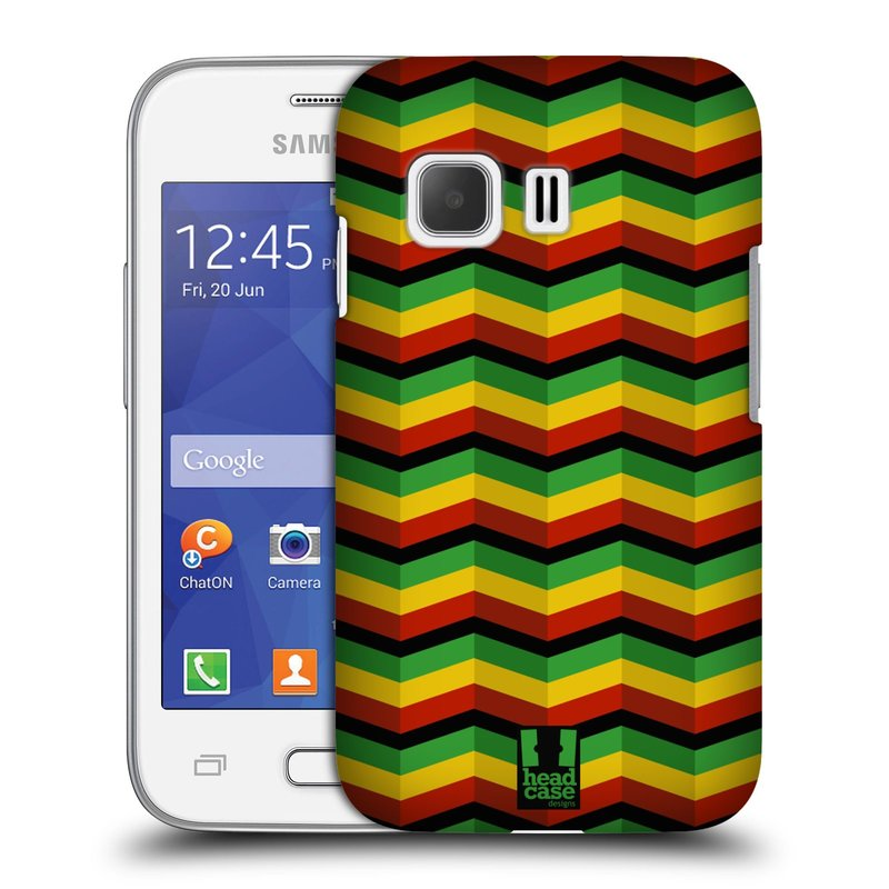 Plastové pouzdro na mobil Samsung Galaxy Young 2 HEAD CASE RASTA CHEVRON (Kryt či obal na mobilní telefon Samsung Galaxy Young 2 SM-G130)