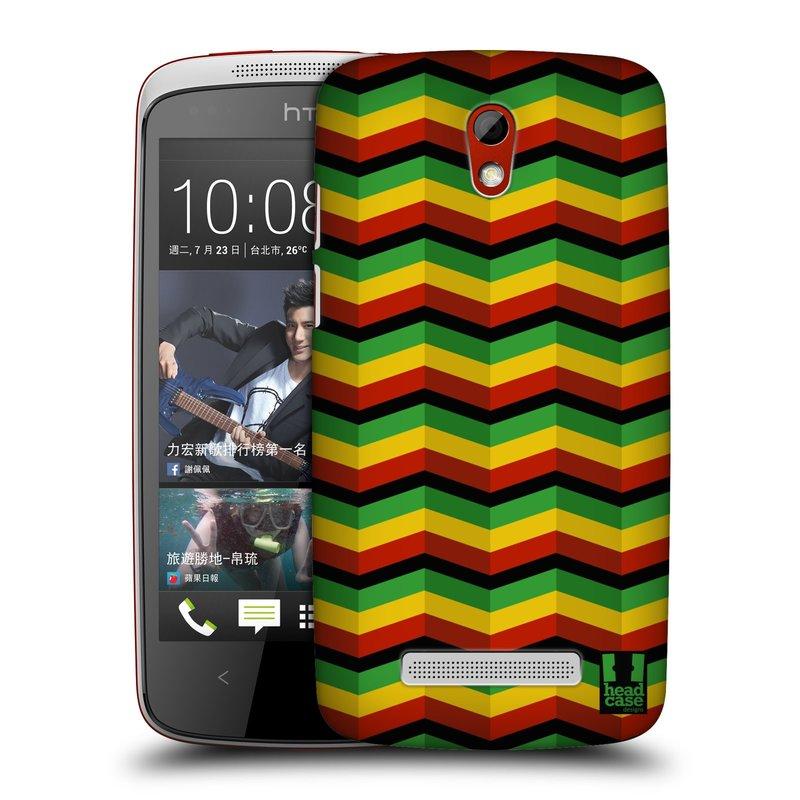 Plastové pouzdro na mobil HTC Desire 500 HEAD CASE RASTA CHEVRON (Kryt či obal na mobilní telefon HTC Desire 500)