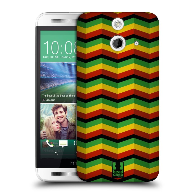 Plastové pouzdro na mobil HTC ONE E8 HEAD CASE RASTA CHEVRON (Kryt či obal na mobilní telefon HTC ONE E8)