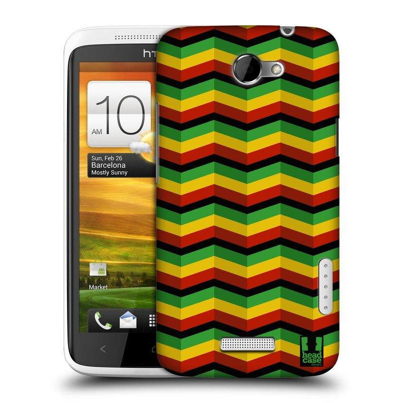 Plastové pouzdro na mobil HTC ONE X HEAD CASE RASTA CHEVRON (Kryt či obal na mobilní telefon HTC ONE X)