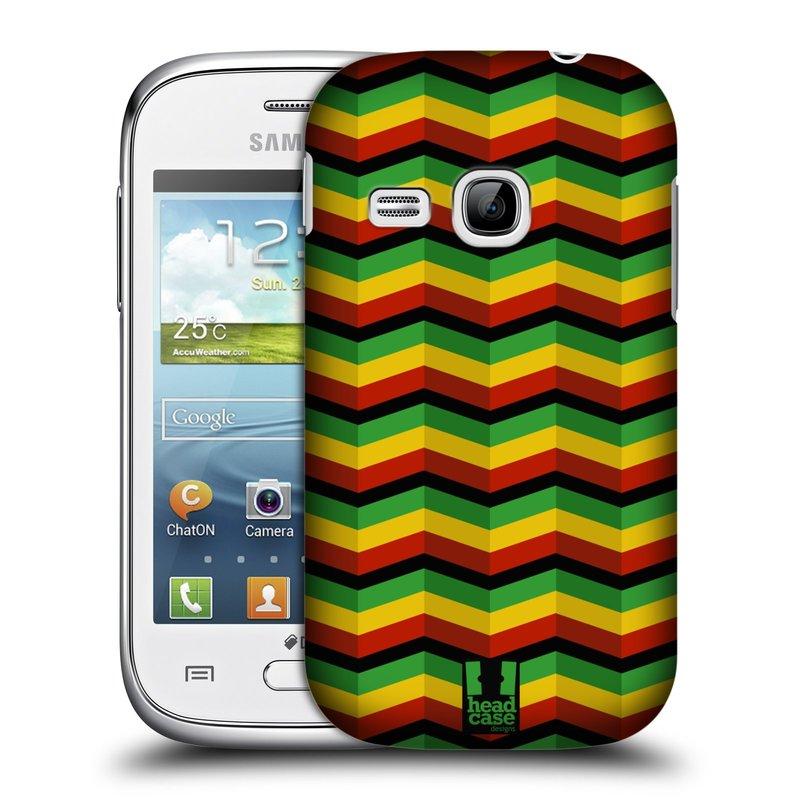Plastové pouzdro na mobil Samsung Galaxy Young HEAD CASE RASTA CHEVRON (Kryt či obal na mobilní telefon Samsung Galaxy Young GT-S6310)