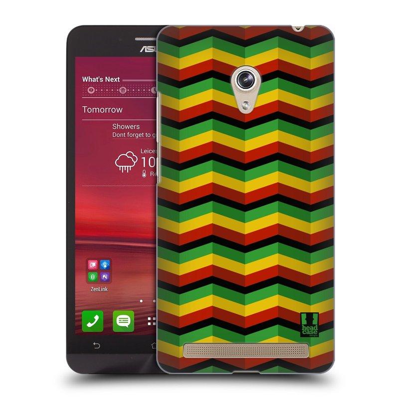 Plastové pouzdro na mobil Asus Zenfone 6 HEAD CASE RASTA CHEVRON (Kryt či obal na mobilní telefon Asus Zenfone 6 A600CG / A601CG)