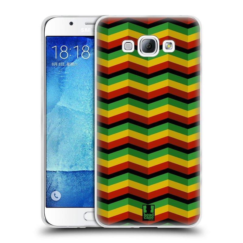 Silikonové pouzdro na mobil Samsung Galaxy A8 HEAD CASE RASTA CHEVRON (Silikonový kryt či obal na mobilní telefon Samsung Galaxy A8 SM-A800)