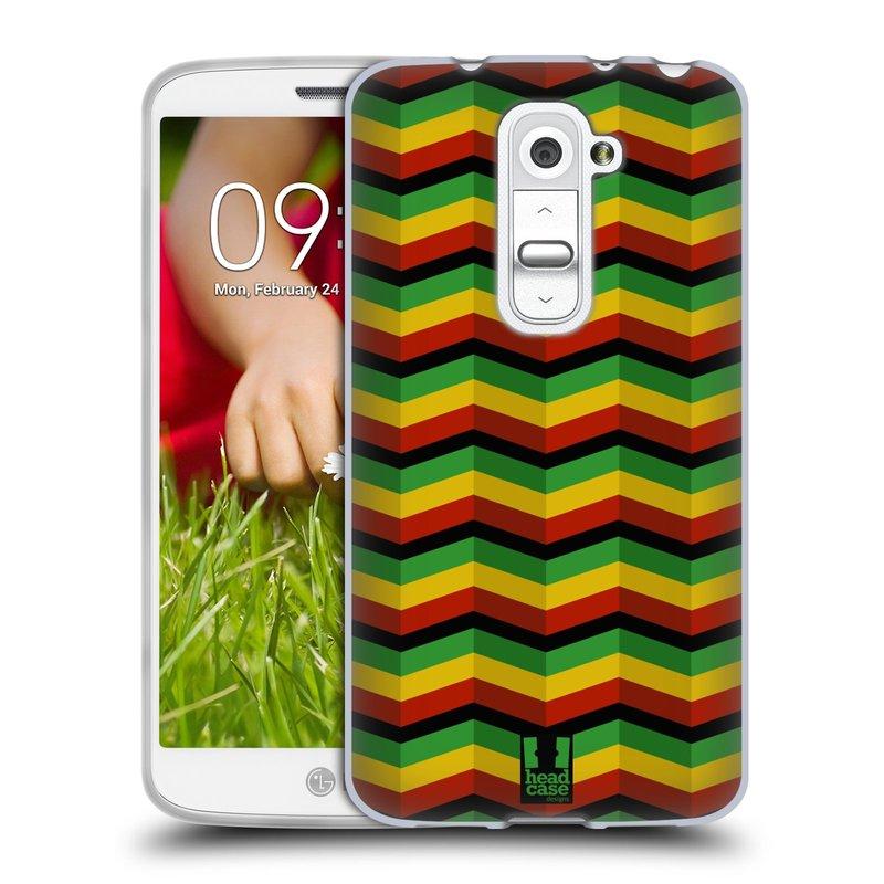 Silikonové pouzdro na mobil LG G2 Mini HEAD CASE RASTA CHEVRON (Silikonový kryt či obal na mobilní telefon LG G2 Mini D620)