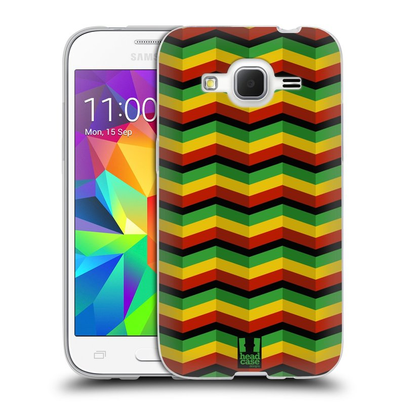 Silikonové pouzdro na mobil Samsung Galaxy Core Prime LTE HEAD CASE RASTA CHEVRON (Silikonový kryt či obal na mobilní telefon Samsung Galaxy Core Prime LTE SM-G360)