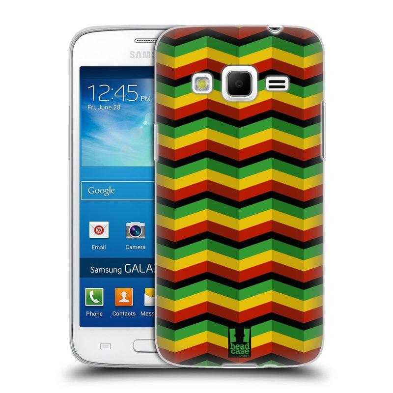 Silikonové pouzdro na mobil Samsung Galaxy Express 2 HEAD CASE RASTA CHEVRON (Silikonový kryt či obal na mobilní telefon Samsung Galaxy Express 2 SM-G3815)
