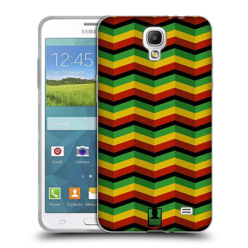 Silikonové pouzdro na mobil Samsung Galaxy Grand Mega 2 HEAD CASE RASTA CHEVRON (Silikonový kryt či obal na mobilní telefon Samsung Galaxy Grand Mega 2 SM-G750)