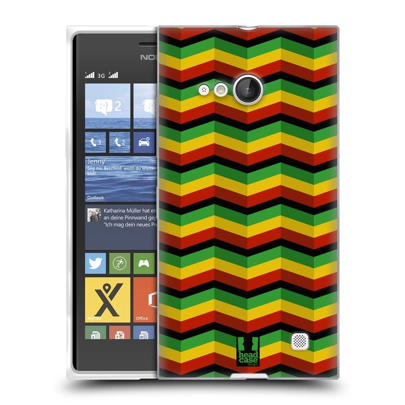 Silikonové pouzdro na mobil Nokia Lumia 730 Dual SIM HEAD CASE RASTA CHEVRON (Silikonový kryt či obal na mobilní telefon Nokia Lumia 730 Dual SIM)