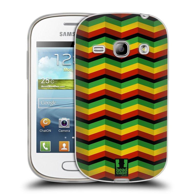 Silikonové pouzdro na mobil Samsung Galaxy Fame HEAD CASE RASTA CHEVRON (Silikonový kryt či obal na mobilní telefon Samsung Galaxy Fame GT-S6810)