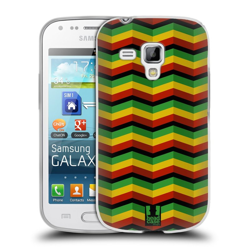Silikonové pouzdro na mobil Samsung Galaxy S Duos 2 HEAD CASE RASTA CHEVRON (Silikonový kryt či obal na mobilní telefon Samsung Galaxy S Duos 2 GT-S7582)
