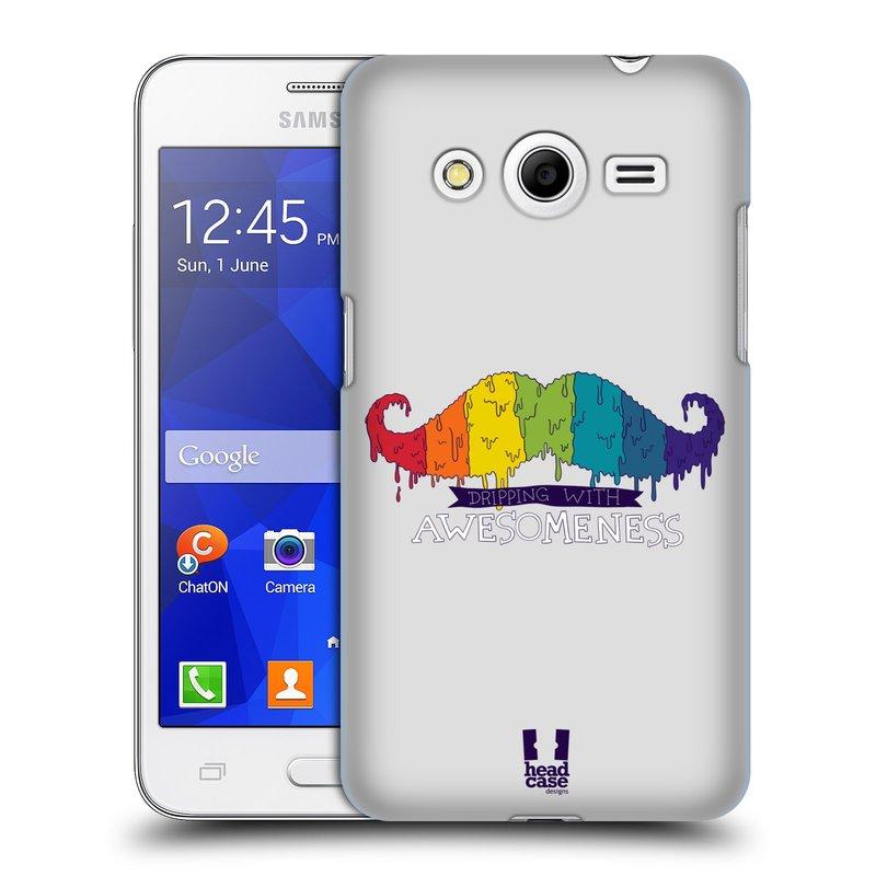 Plastové pouzdro na mobil Samsung Galaxy Core 2 HEAD CASE KNÍR AWESOMENESS DUHOVÝ (Plastový kryt či obal na mobilní telefon Samsung Galaxy Core 2 SM-G355H)