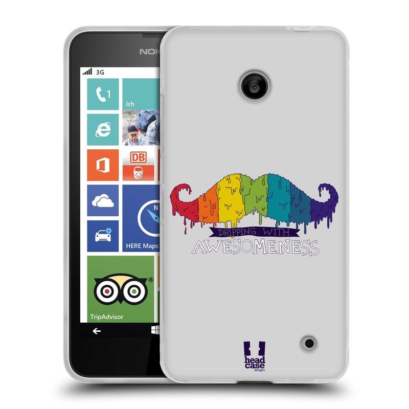 Silikonové pouzdro na mobil Nokia Lumia 635 HEAD CASE KNÍR AWESOMENESS DUHOVÝ (Silikonový kryt či obal na mobilní telefon Nokia Lumia 635 Dual SIM)