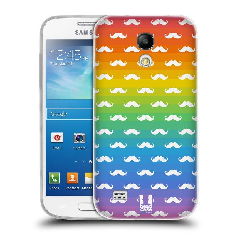 Silikonové pouzdro na mobil Samsung Galaxy S4 Mini VE HEAD CASE DUHOVÉ KNÍRY (Silikonový kryt či obal na mobilní telefon Samsung Galaxy S4 Mini VE GT-i9195i (nepasuje na verzi Black Edition))