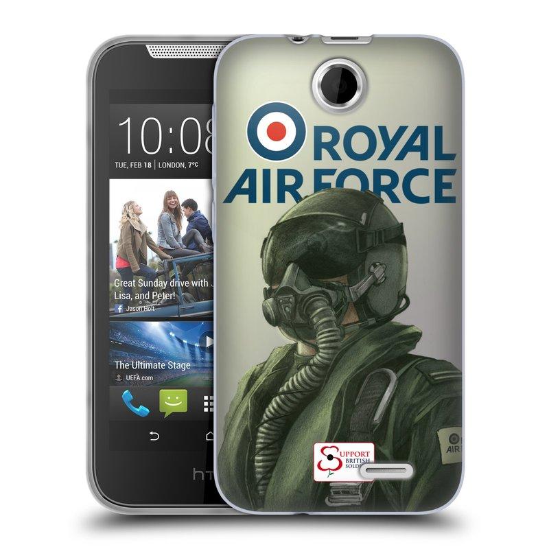Silikonové pouzdro na mobil HTC Desire 310 HEAD CASE Royal Air Force (Silikonový kryt či obal na mobilní telefon HTC Desire 310)
