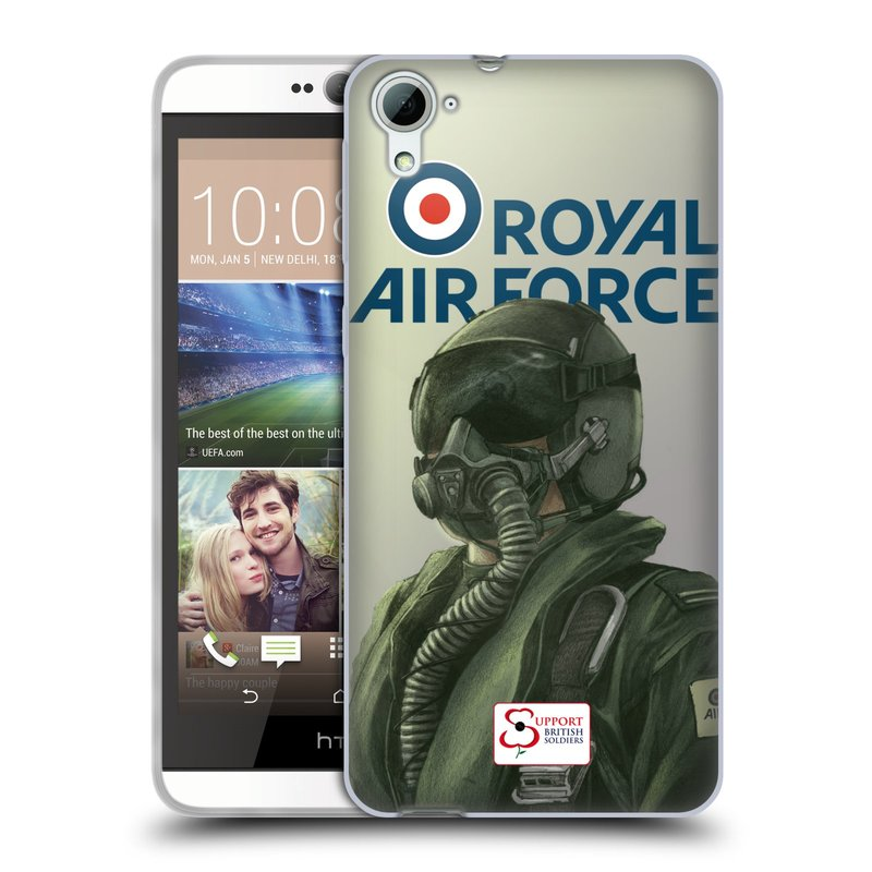 Silikonové pouzdro na mobil HTC Desire 826 HEAD CASE Royal Air Force (Silikonový kryt či obal na mobilní telefon HTC Desire 826 Dual SIM)