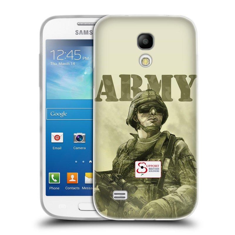 Silikonové pouzdro na mobil Samsung Galaxy S4 Mini VE HEAD CASE BRITISH ARMY (Silikonový kryt či obal na mobilní telefon Samsung Galaxy S4 Mini VE GT-i9195i (nepasuje na verzi Black Edition))