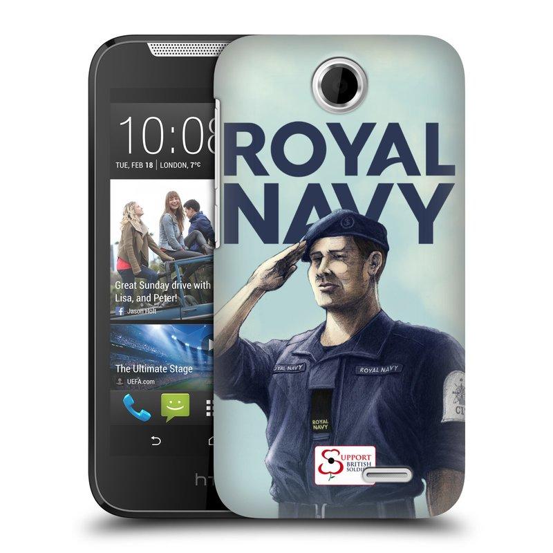Plastové pouzdro na mobil HTC Desire 310 HEAD CASE ROYAL NAVY (Kryt či obal na mobilní telefon HTC Desire 310)