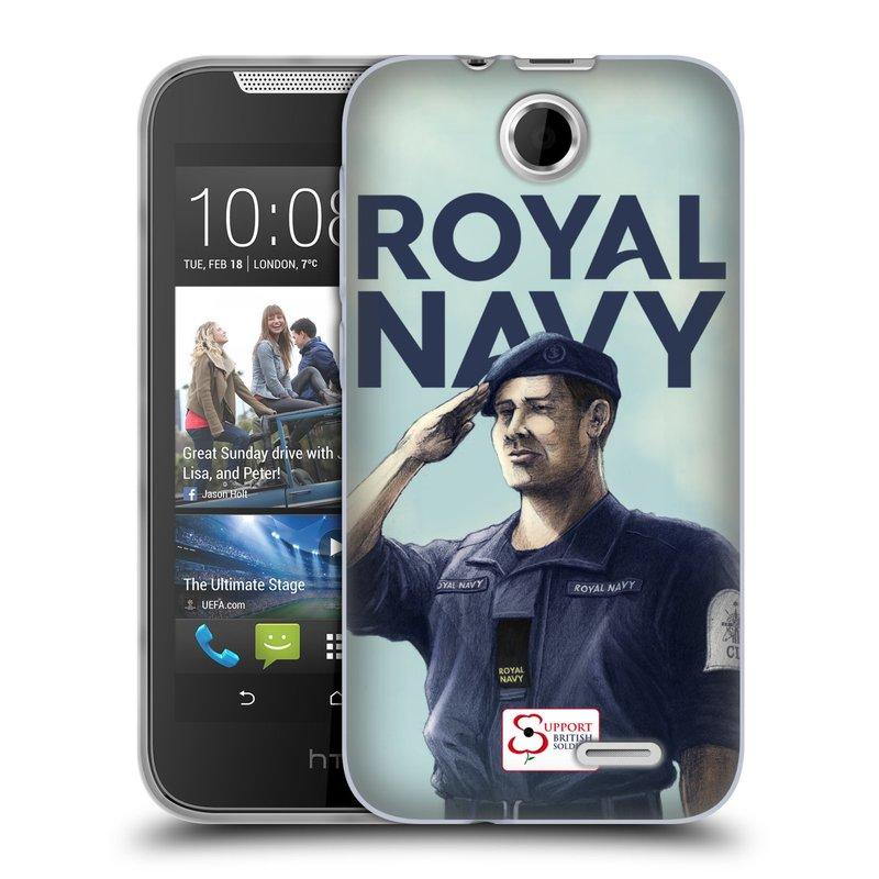 Silikonové pouzdro na mobil HTC Desire 310 HEAD CASE ROYAL NAVY (Silikonový kryt či obal na mobilní telefon HTC Desire 310)