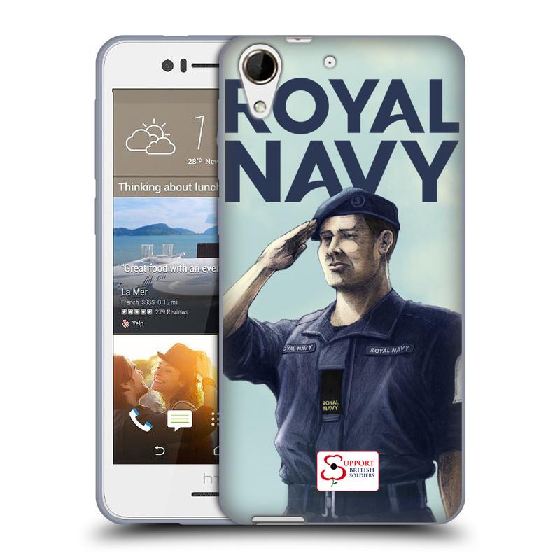 Silikonové pouzdro na mobil HTC Desire 728G Dual SIM HEAD CASE ROYAL NAVY (Silikonový kryt či obal na mobilní telefon HTC Desire 728 G Dual SIM)