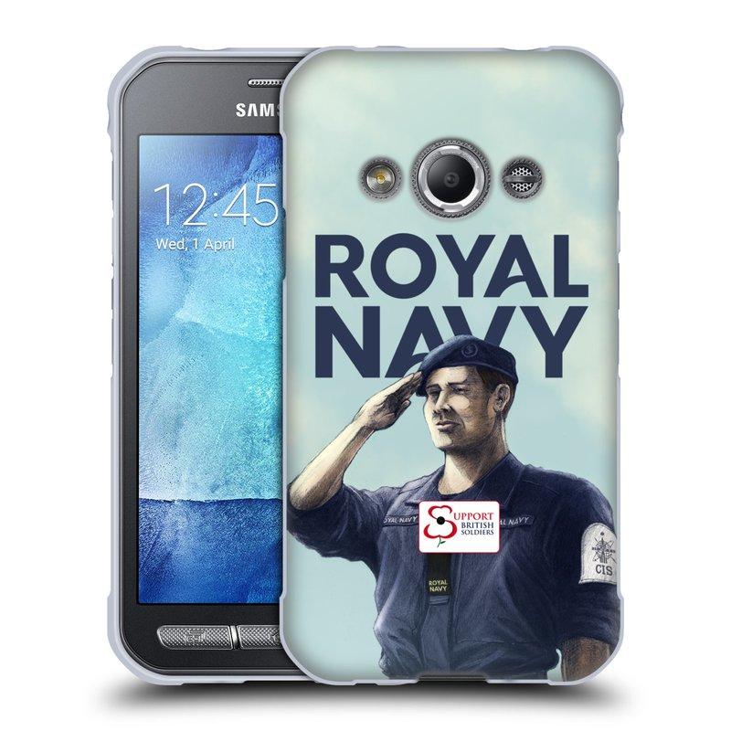 Silikonové pouzdro na mobil Samsung Galaxy Xcover 3 HEAD CASE ROYAL NAVY (Silikonový kryt či obal na mobilní telefon Samsung Galaxy Xcover 3 SM-G388F)