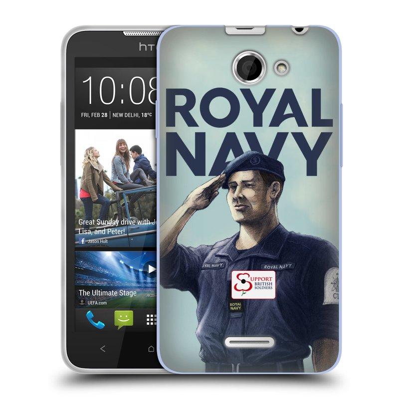 Silikonové pouzdro na mobil HTC Desire 516 HEAD CASE ROYAL NAVY (Silikonový kryt či obal na mobilní telefon HTC Desire 516 Dual SIM)