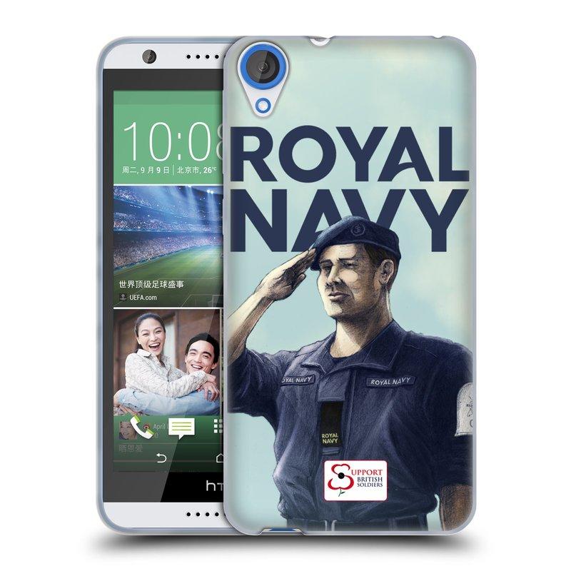 Silikonové pouzdro na mobil HTC Desire 820 HEAD CASE ROYAL NAVY (Silikonový kryt či obal na mobilní telefon HTC Desire 820)
