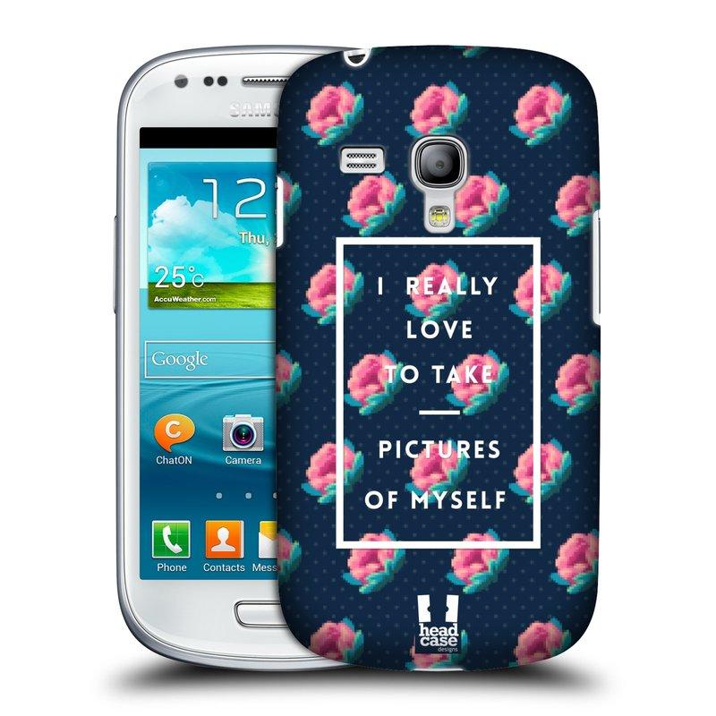 Plastové pouzdro na mobil Samsung Galaxy S3 Mini VE HEAD CASE SELFIE I LOVE (Kryt či obal na mobilní telefon Samsung Galaxy S3 Mini VE GT-i8200)