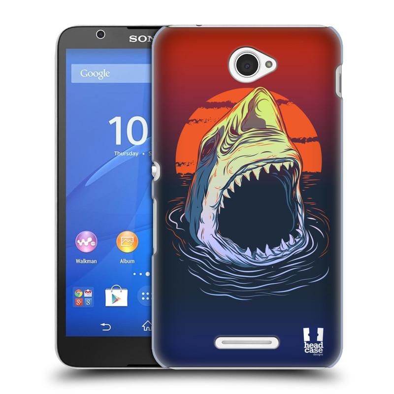 Plastové pouzdro na mobil Sony Xperia E4 E2105 HEAD CASE HLADOVÝ ŽRALOK (Kryt či obal na mobilní telefon Sony Xperia E4 a E4 Dual SIM)