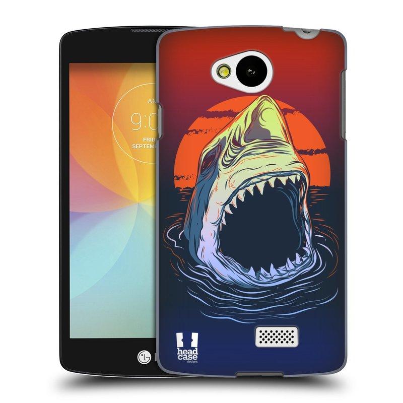 Plastové pouzdro na mobil LG F60 HEAD CASE HLADOVÝ ŽRALOK (Kryt či obal na mobilní telefon LG F60 D390n)