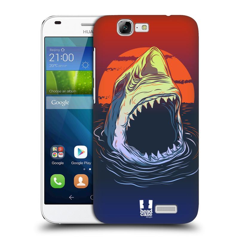 Plastové pouzdro na mobil Huawei Ascend G7 HEAD CASE HLADOVÝ ŽRALOK (Kryt či obal na mobilní telefon Huawei Ascend G7)