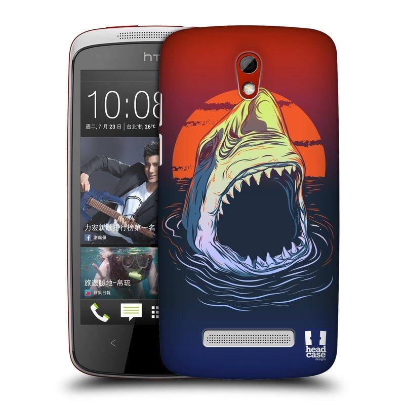 Plastové pouzdro na mobil HTC Desire 500 HEAD CASE HLADOVÝ ŽRALOK (Kryt či obal na mobilní telefon HTC Desire 500)