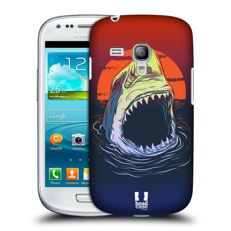 Plastové pouzdro na mobil Samsung Galaxy S III Mini HEAD CASE HLADOVÝ ŽRALOK (Kryt či obal na mobilní telefon Samsung Galaxy S III Mini GT-i8190)