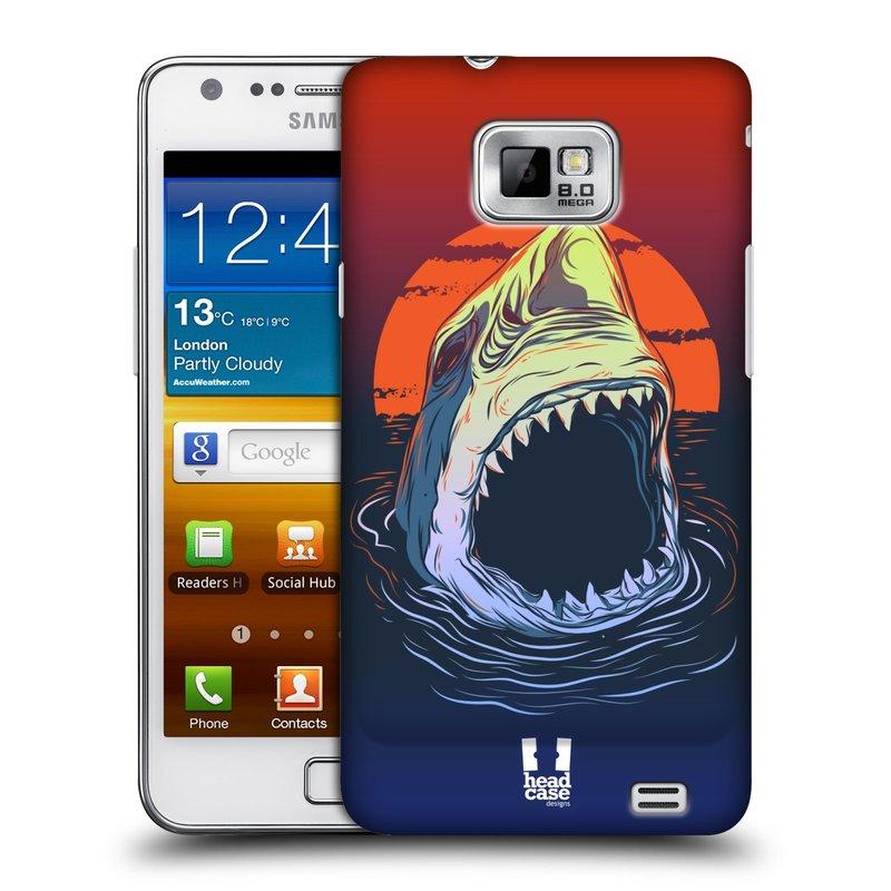 Plastové pouzdro na mobil Samsung Galaxy S II HEAD CASE HLADOVÝ ŽRALOK (Kryt či obal na mobilní telefon Samsung Galaxy S II GT-i9100)
