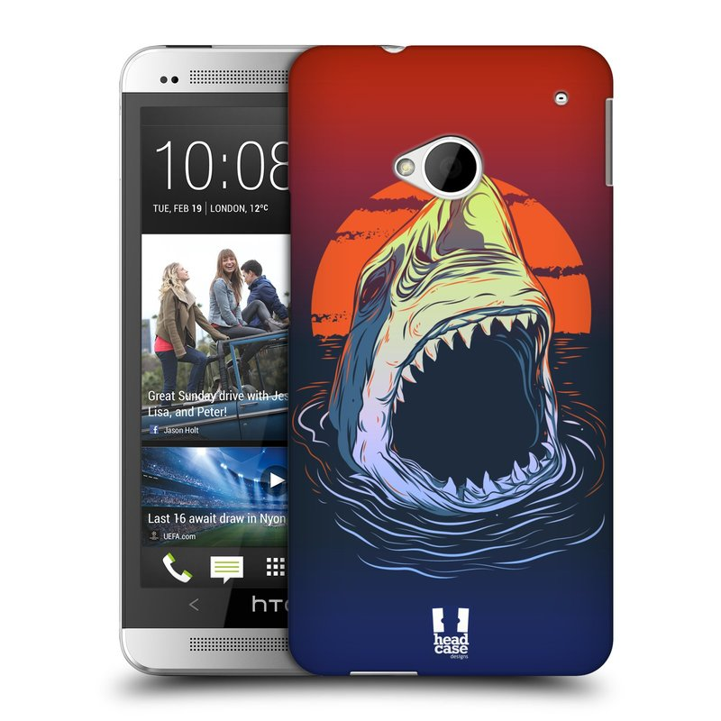 Plastové pouzdro na mobil HTC ONE M7 HEAD CASE HLADOVÝ ŽRALOK (Kryt či obal na mobilní telefon HTC ONE M7)