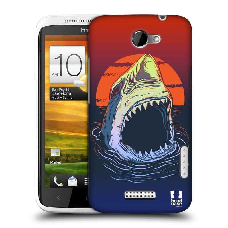 Plastové pouzdro na mobil HTC ONE X HEAD CASE HLADOVÝ ŽRALOK (Kryt či obal na mobilní telefon HTC ONE X)