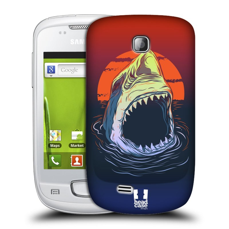 Plastové pouzdro na mobil Samsung Galaxy Mini HEAD CASE HLADOVÝ ŽRALOK (Kryt či obal na mobilní telefon Samsung Galaxy Mini GT-S5570 / GT-S5570i)