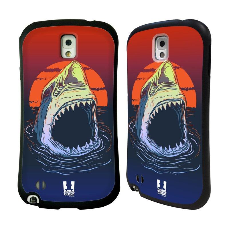 Nárazuvzdorné pouzdro na mobil Samsung Galaxy Note 3 HEAD CASE HLADOVÝ ŽRALOK (Odolný nárazuvzdorný silikonový kryt či obal na mobilní telefon Samsung Galaxy Note 3 SM-N9005)