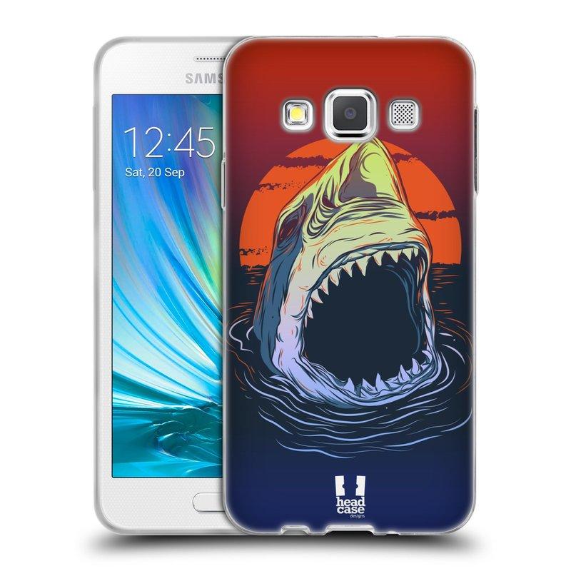 Silikonové pouzdro na mobil Samsung Galaxy A3 HEAD CASE HLADOVÝ ŽRALOK (Silikonový kryt či obal na mobilní telefon Samsung Galaxy A3 SM-A300)