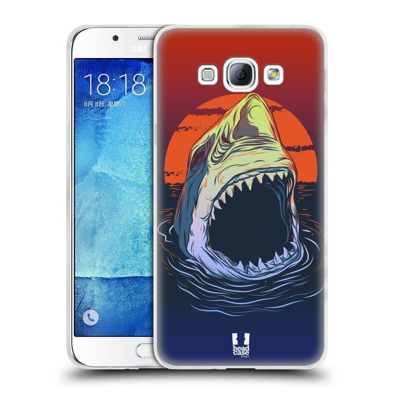 Silikonové pouzdro na mobil Samsung Galaxy A8 HEAD CASE HLADOVÝ ŽRALOK (Silikonový kryt či obal na mobilní telefon Samsung Galaxy A8 SM-A800)