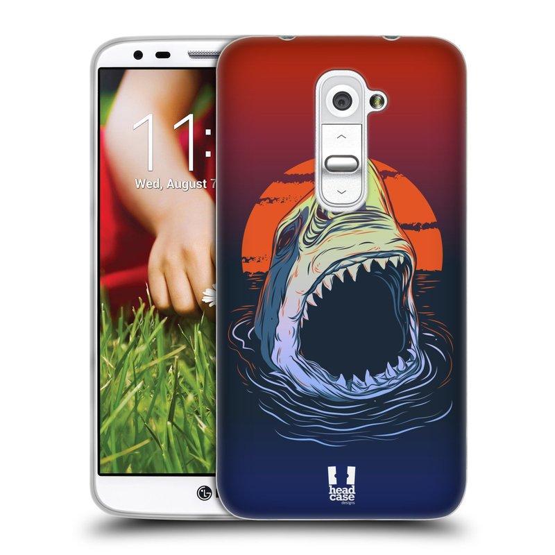 Silikonové pouzdro na mobil LG G2 HEAD CASE HLADOVÝ ŽRALOK (Silikonový kryt či obal na mobilní telefon LG G2 D802)