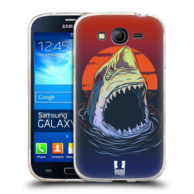 Silikonové pouzdro na mobil Samsung Galaxy Grand Neo HEAD CASE HLADOVÝ ŽRALOK (Silikonový kryt či obal na mobilní telefon Samsung Galaxy Grand Neo GT-I9060)