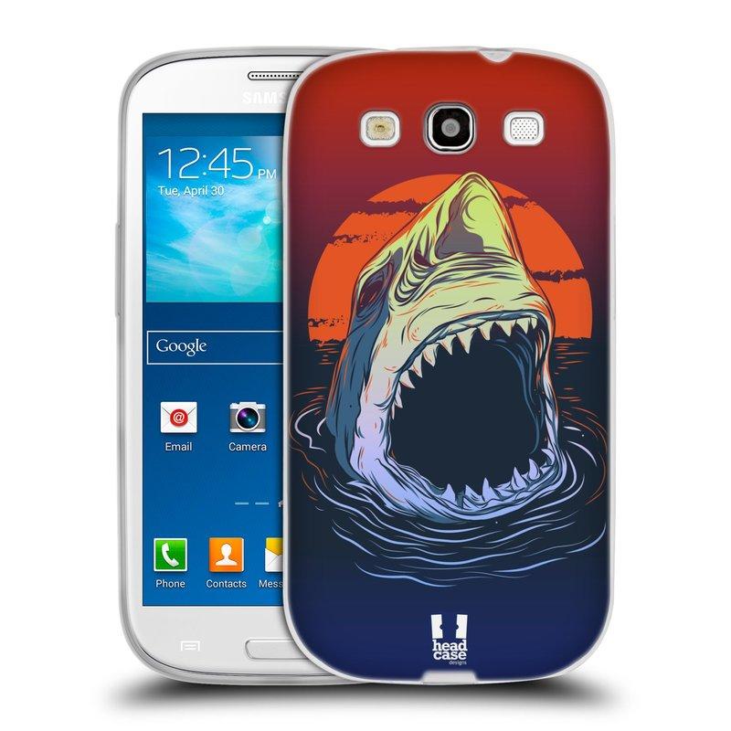 Silikonové pouzdro na mobil Samsung Galaxy S III HEAD CASE HLADOVÝ ŽRALOK (Silikonový kryt či obal na mobilní telefon Samsung Galaxy S III GT-i9300)