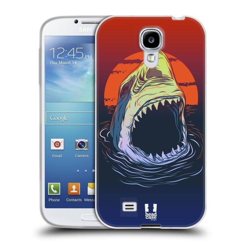 Silikonové pouzdro na mobil Samsung Galaxy S4 HEAD CASE HLADOVÝ ŽRALOK (Silikonový kryt či obal na mobilní telefon Samsung Galaxy S4 GT-i9505 / i9500)