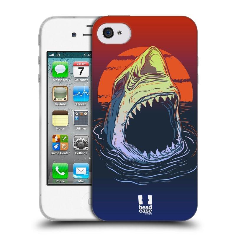 Silikonové pouzdro na mobil Apple iPhone 4 a 4S HEAD CASE HLADOVÝ ŽRALOK (Silikonový kryt či obal na mobilní telefon Apple iPhone 4 a 4S)