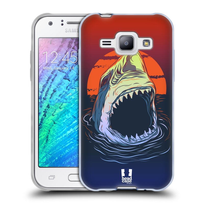 Silikonové pouzdro na mobil Samsung Galaxy J1 HEAD CASE HLADOVÝ ŽRALOK (Silikonový kryt či obal na mobilní telefon Samsung Galaxy J1 a J1 Duos)