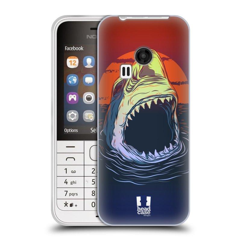 Silikonové pouzdro na mobil Nokia 220 HEAD CASE HLADOVÝ ŽRALOK (Silikonový kryt či obal na mobilní telefon Nokia 220 a 220 Dual SIM)