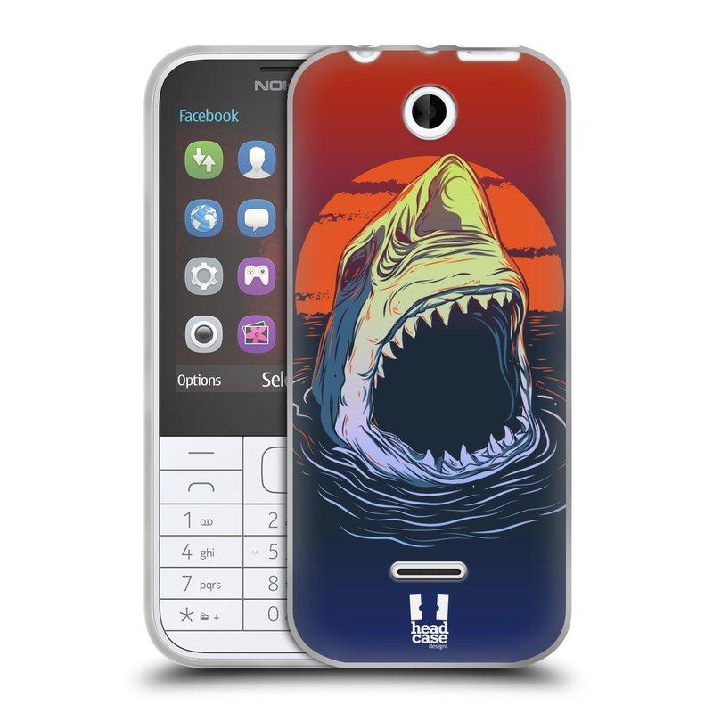 Silikonové pouzdro na mobil Nokia 225 HEAD CASE HLADOVÝ ŽRALOK (Silikonový kryt či obal na mobilní telefon Nokia 225)