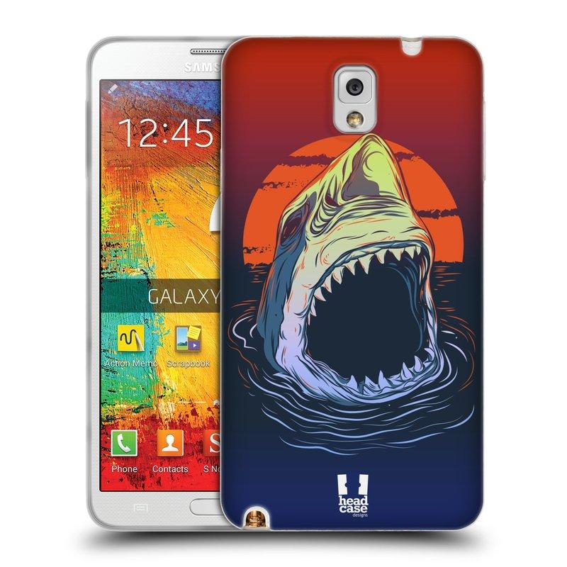 Silikonové pouzdro na mobil Samsung Galaxy Note 3 HEAD CASE HLADOVÝ ŽRALOK (Silikonový kryt či obal na mobilní telefon Samsung Galaxy Note 3 SM-N9005)